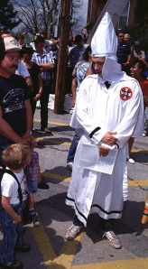 The KKK was more of a curiosity in the Ozarks towns where they tried to recruit members in the 1980's and '90's. (Photo Copyrighted by John S. Stewart/LEFTeyeSTORIES.com)
