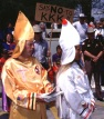 KKK members try to recruit new members in a small Ozarks town. (Photo copyrighted by John S. Stewart/LEFTeyeSTORIES.com)