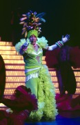 Andy Williams as Carmen Miranda at his Moon River Theatre in Branson, Missouri. (Photo Copyrighted by John S. Stewart/LEFTeyeSTORIES)