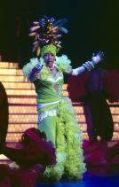 Andy Williams as Carmen Miranda at his Moon River Theatre in Branson, Missouri. (Photo Copyrighted by John S. Stewart/LEFTeyeSTORIES)