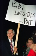 Pat Paulsen asks Sen. Bob Dole to talk