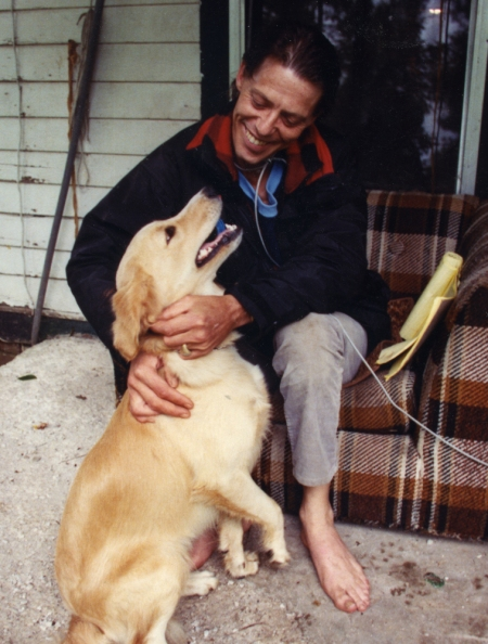 Cabled to his house without access to tobacco or tools to release the cable, Rick attempts to kick the smoking habit. His only companion is a dog who is free to roam. (Copyright John S. Stewart LEFTeyeSTORIES.com)
