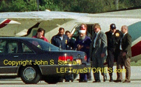 Federal Marshals escort Sheik Omar Abdel-Rahman (The Blind Sheik) to a waiting car at the Springfield-Branson National Airport in 1995. (Photo Copyright John S. Stewart/LEFTeyeSTORIES.com)